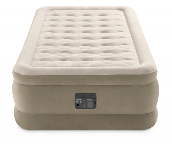 TWIN ULTRA PLUSH AIRBED WITH FIBER-TECH BIP (w/220-240V Built-in Pump)