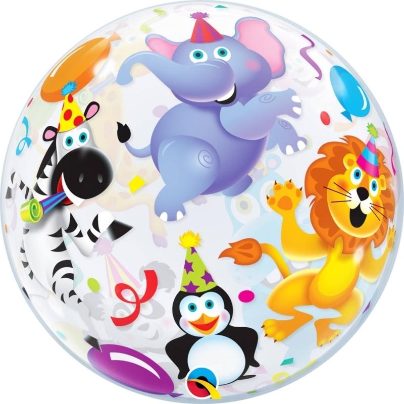 Saustall Geburtstag Bubble Ballon gefüllt mit Helium