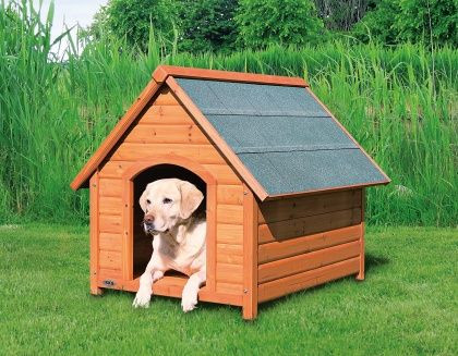 Trixie - natura Hundehütte mit Satteldach