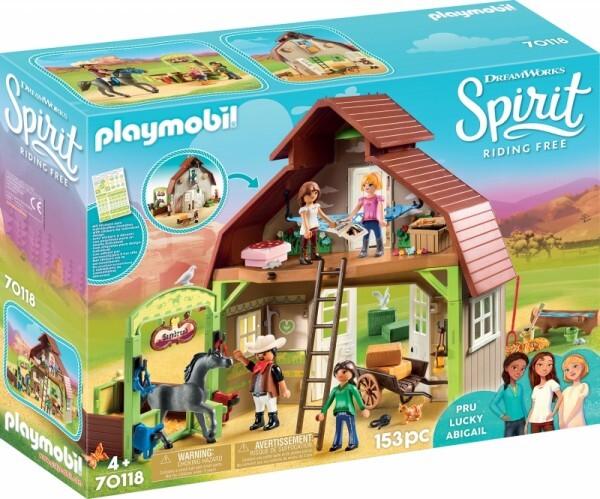 PLAYMOBIL® 70118 Stall mit Lucky, Pru & Abigail
