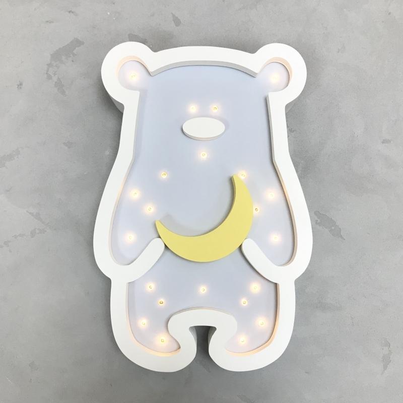 LED-Nachtlampe Bär hellblau