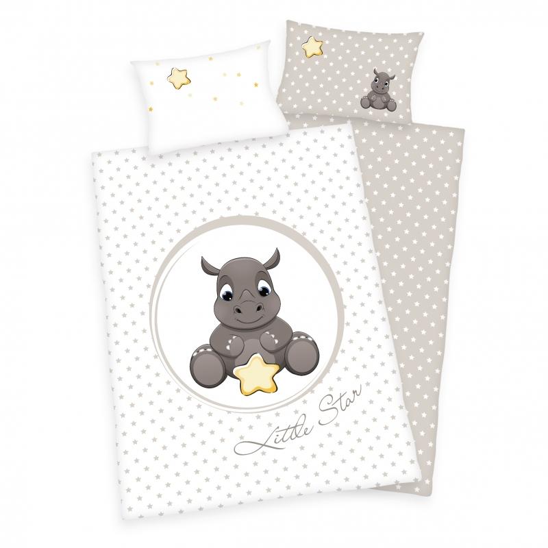 Babybettwäsche - Süsses Nashorn