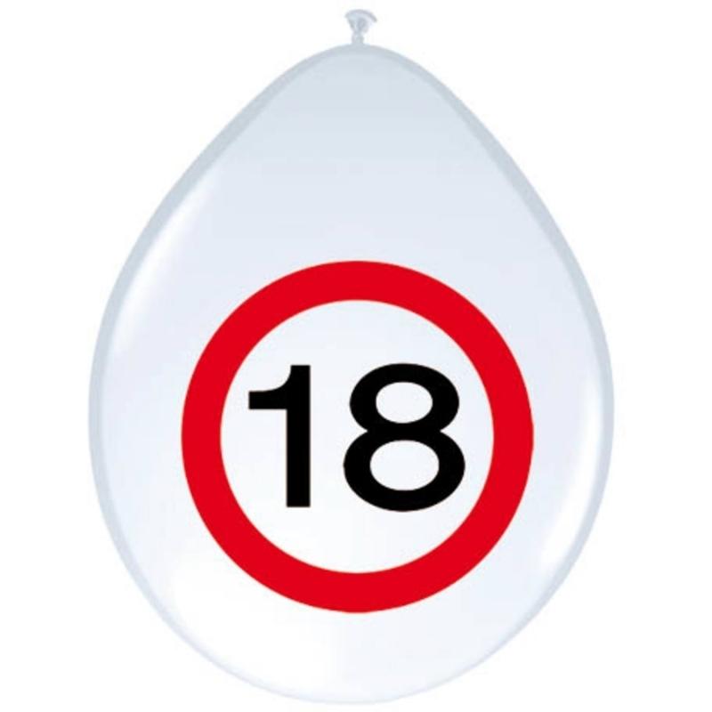 18. Geburtstag Verkehrsschild Ballons