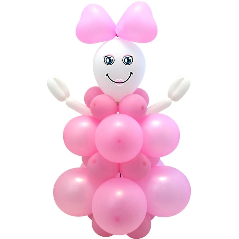 Ballon Bastelset Geburt Mädchen