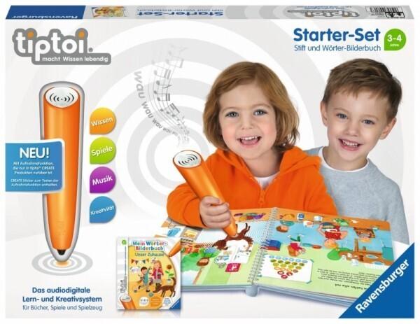 Ravensburger tiptoi® - CREATE Starter-Set:Stift und Wörter-Bilderbuch