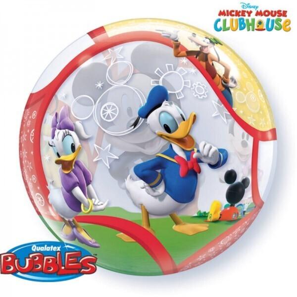 Mickey Mouse - Donald Duck Bubble Ballon gefüllt mit Helium