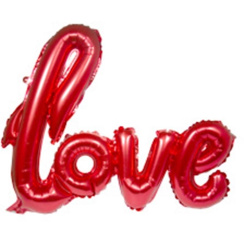 Folienballon Schrift Love
