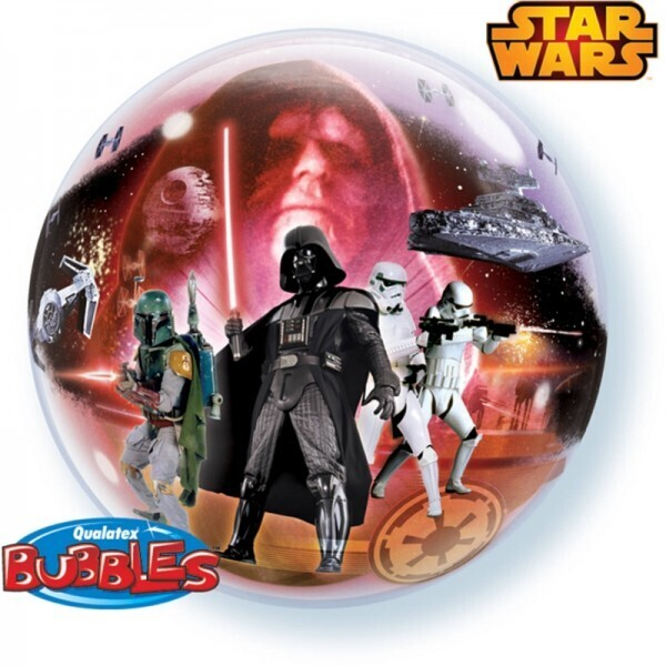 Star Wars Bubble Ballon gefüllt mit Helium