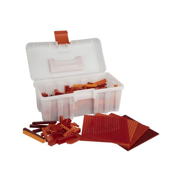 Q-BRICKS - Baustein Box 600+ Rote Mischung