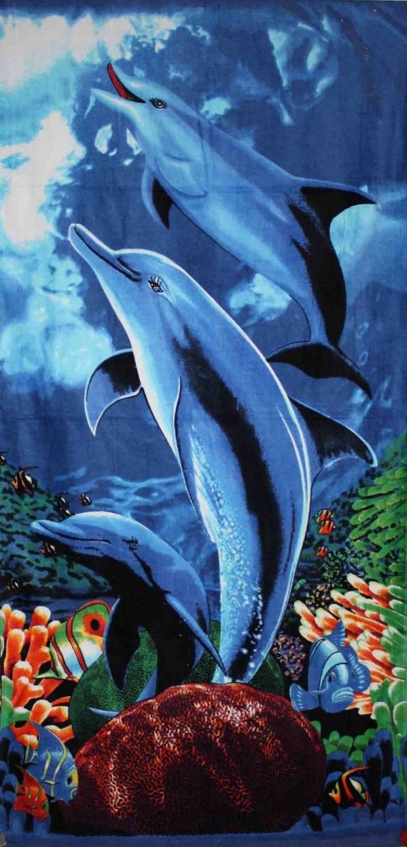 Strandtuch Badetuch Motiv Delphin