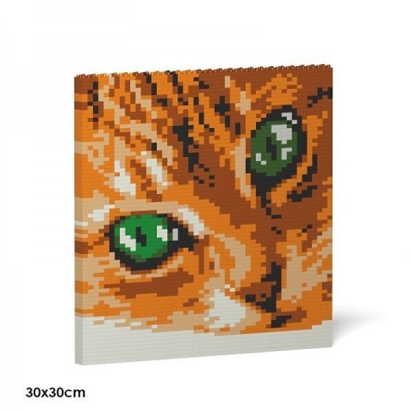 Jekca - Cat Eyes Ziegelsteinmalerei
