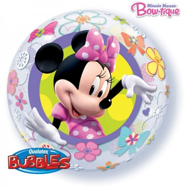 Minnie Mouse Bubble Ballon gefüllt mit Helium