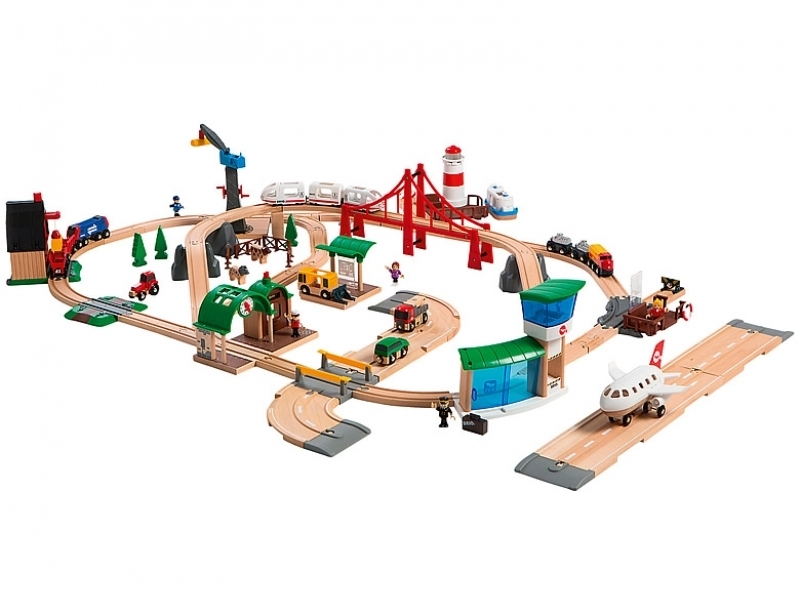 BRIO® - Grosses BRIO Premium Set in Kunststoffboxen