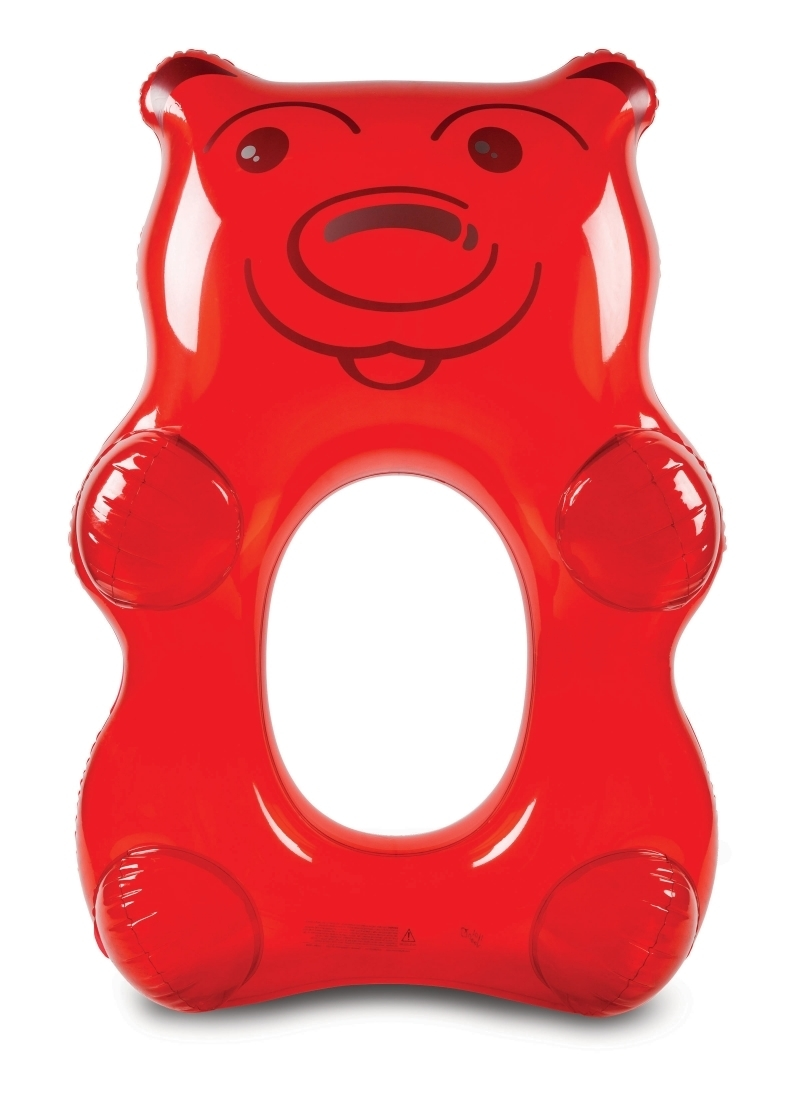 Schwimmtier grosser Gummibär rot