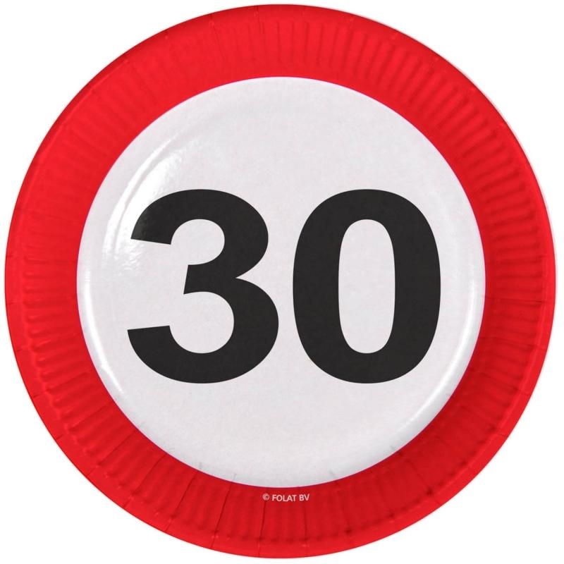 30. Geburtstag Verkehrsschild Teller