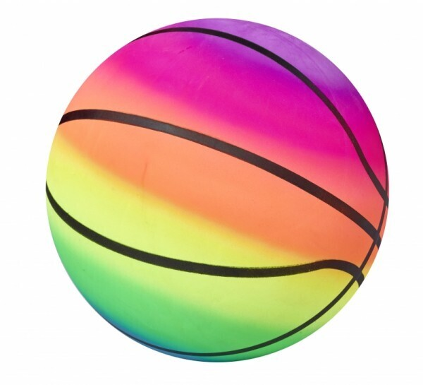 PVC Rainbow Ball 22cm Basket