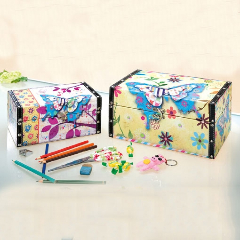 Utensilienbox Set mit Schmetterlingen
