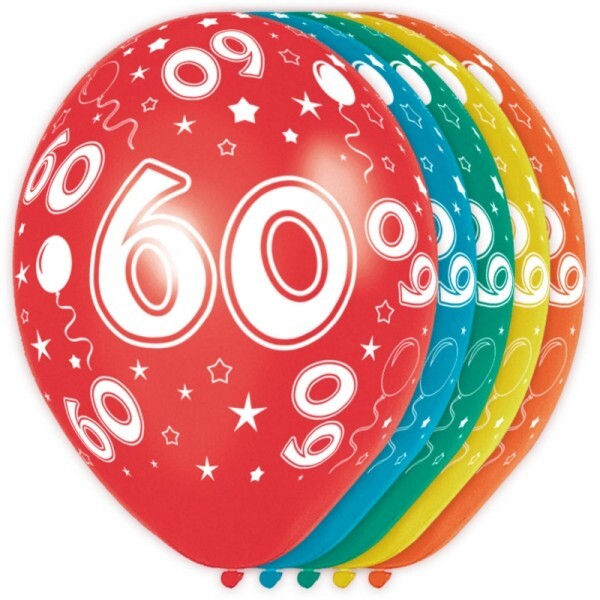 60. Geburtstag Ballons