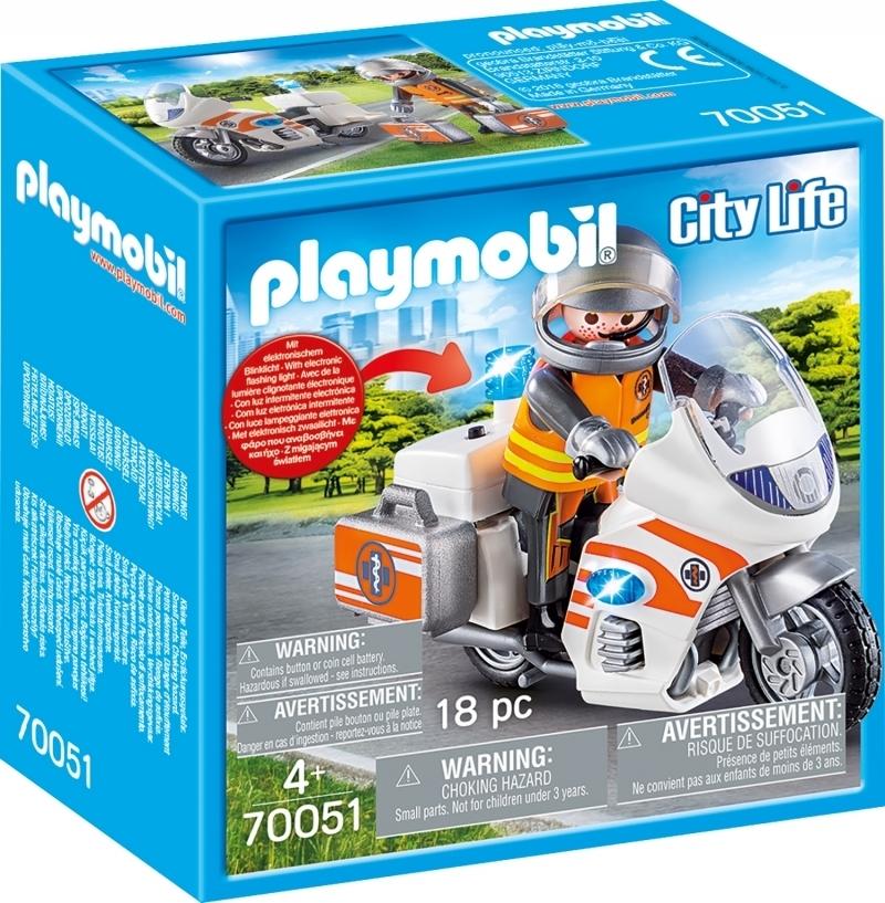 PLAYMOBIL® 70051 Notarzt-Motorrad mit Blinklicht