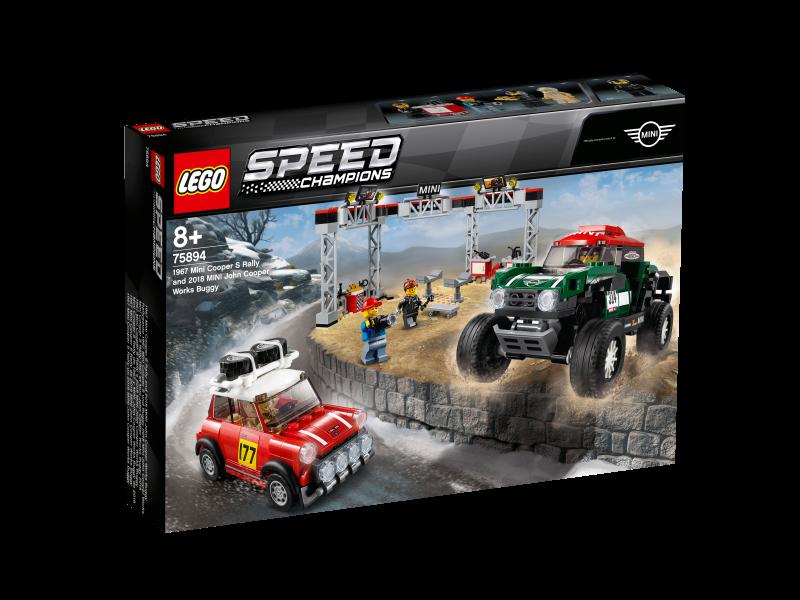 LEGO® Speed Champions 75894 - Rallyeauto 1967 Mini Cooper S und Buggy 2018 Mini John Cooper Works