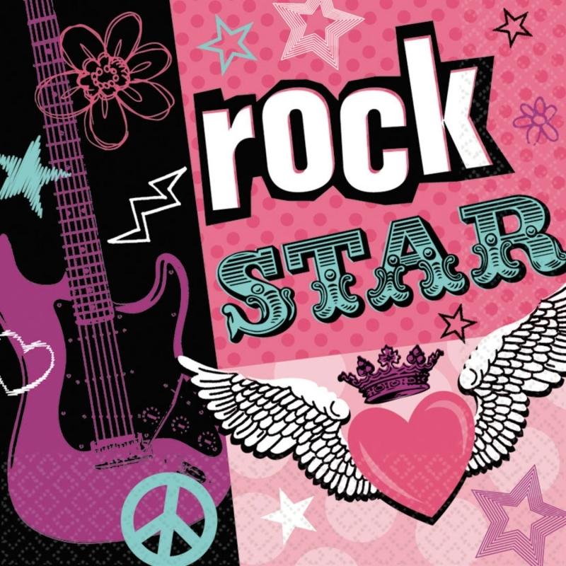Rocker Girl Servietten