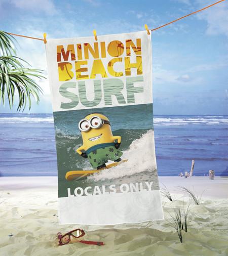 Strandtuch Minions Surf