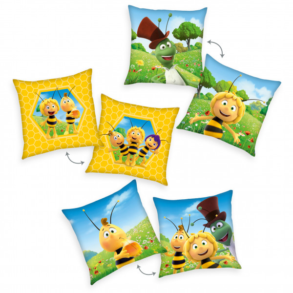 Dekokissen Biene Maja 3-er Set
