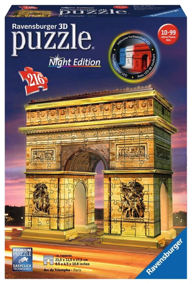 Ravensburger 3D Puzzle - Triumphbogen Night Edition
