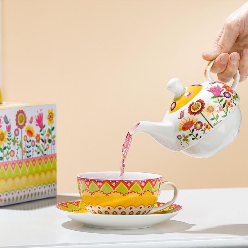 Teeservice Blumenwiese