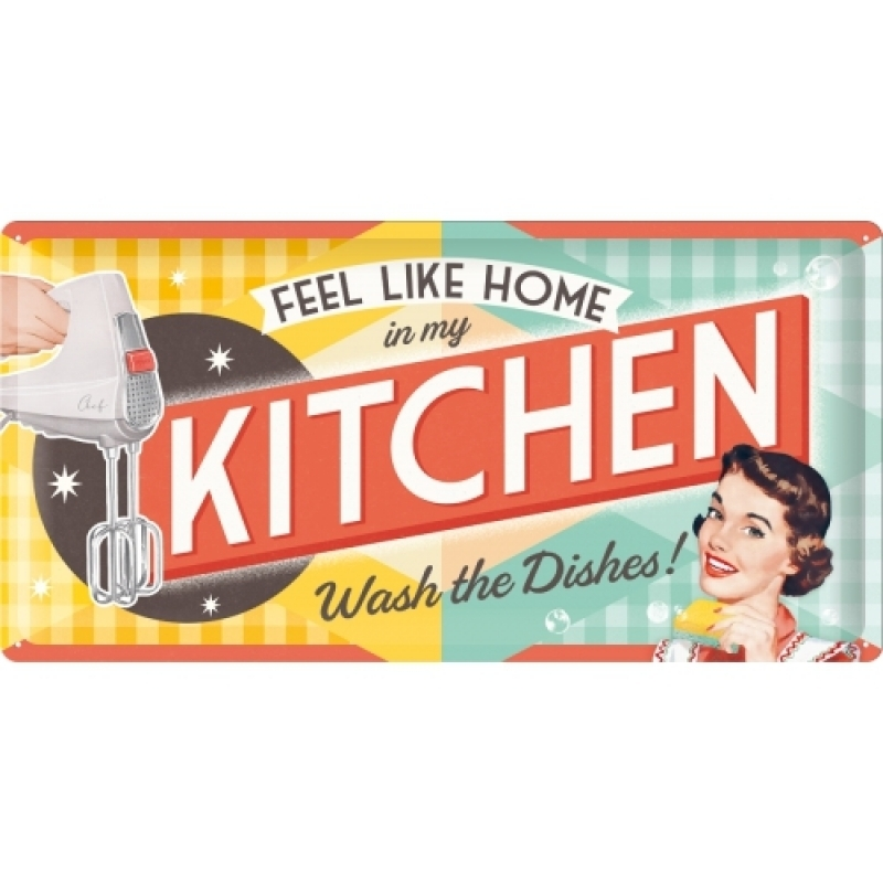Blechschild Kitchen