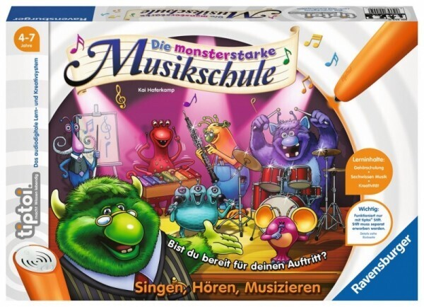 Ravensburger tiptoi® - Die monsterstarke Musikschule