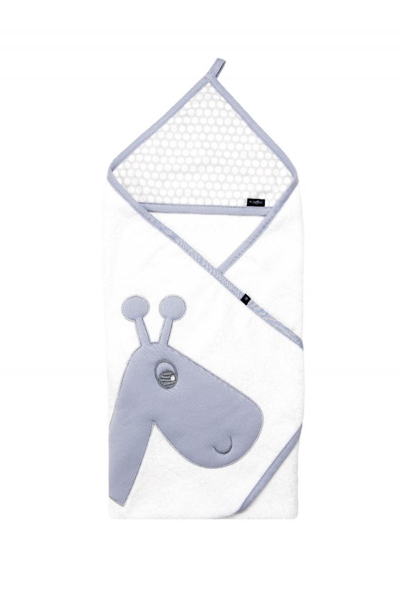 Zaffiro - Kapuzenbadetuch mit Stickerei 100 x 100 cm