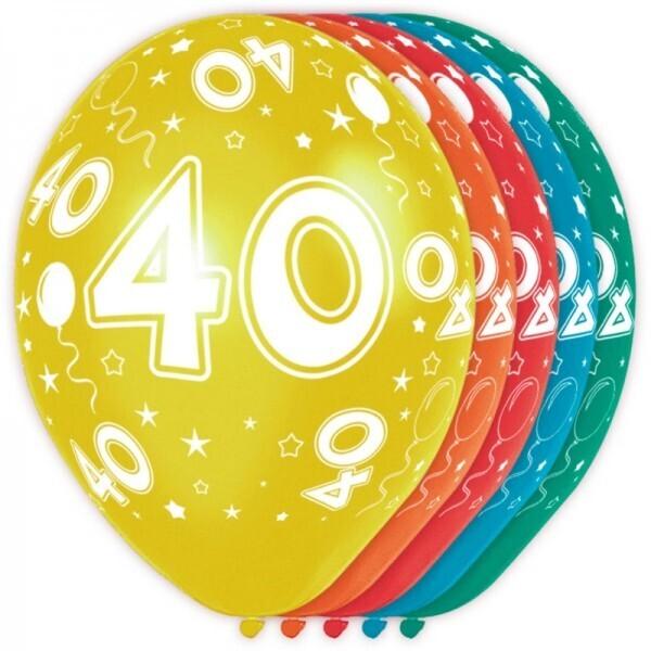 40. Geburtstag Ballons
