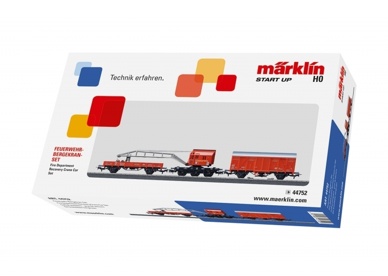 Märklin Start up 44752 - Feuerwehr-Bergekran-Set