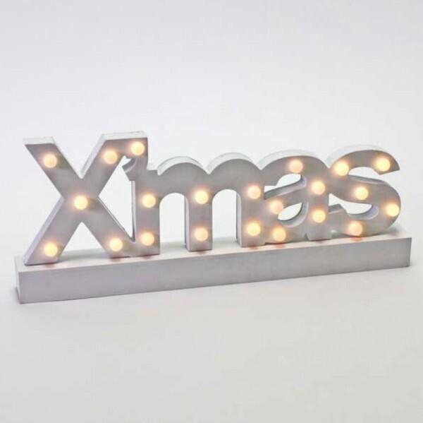 LED-Schriftzug Xmas weiss