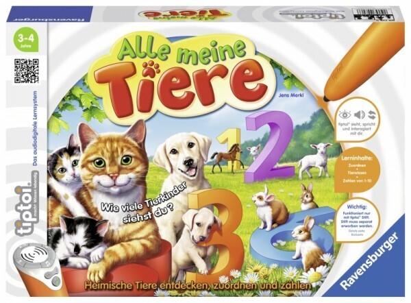 Ravensburger tiptoi® - Alle meine Tiere
