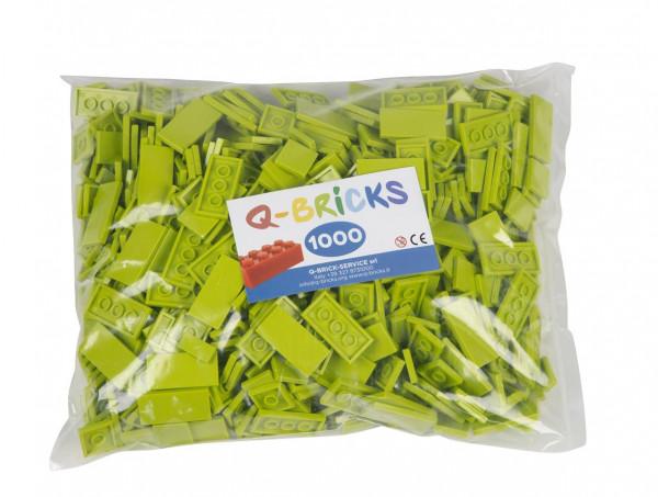 Q-BRICKS - Bausteine Fliesen 3x Grassgrün 101