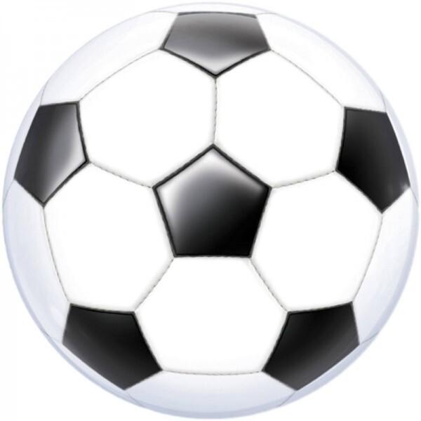 Fussball Bubble Ballon gefüllt mit Helium
