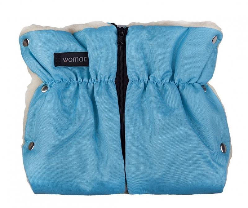 Zaffiro - Kinderwagen-Handschuh Muff mit Lammfell