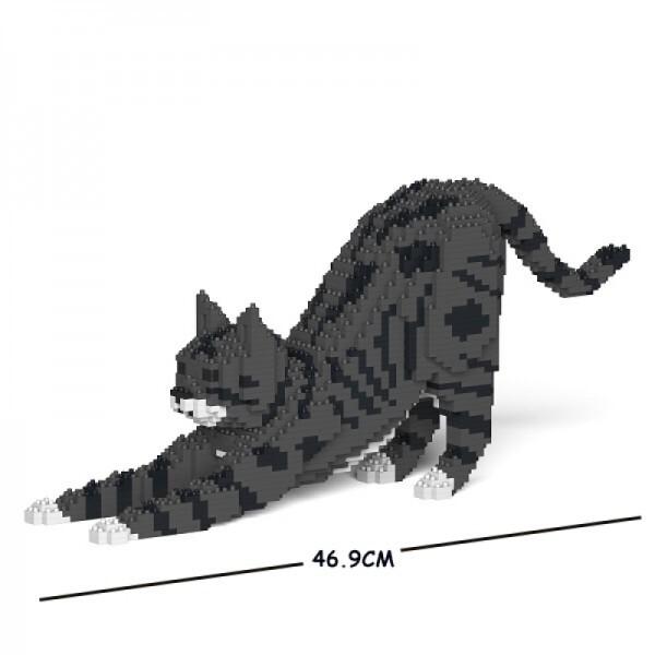 Jekca - Cat black& with & gray