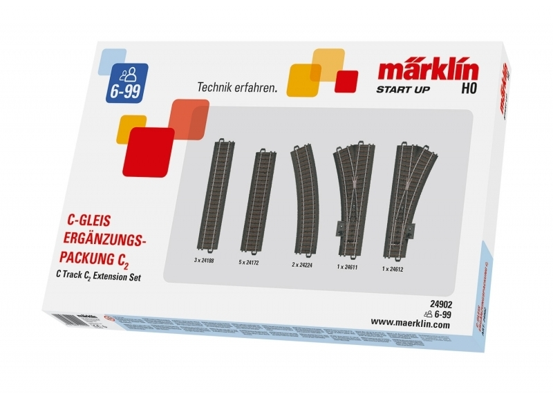 Märklin Start up 24902 - C-Gleis-Ergänzungspackung C2