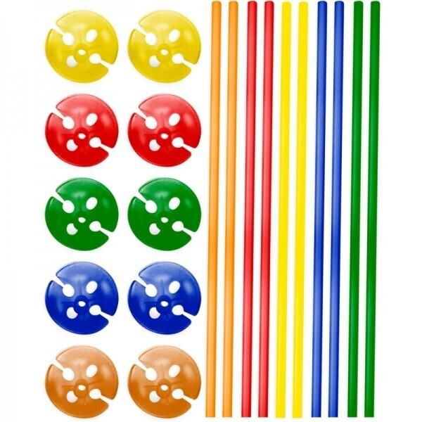 10 Ballonstäbe verschiedene Farben mit Halter