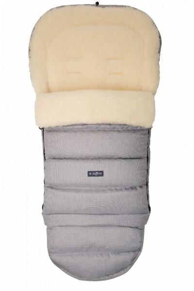 Zaffiro - Fussack für Kinderwagen Schafwolle