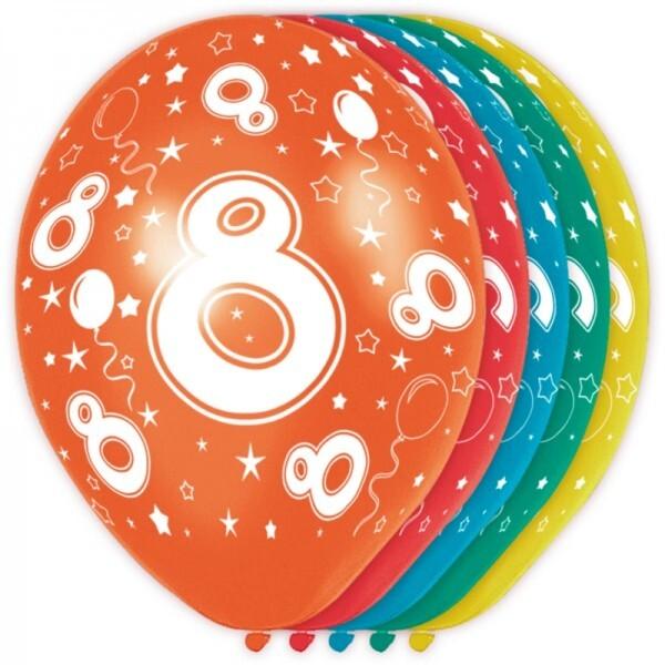 8. Geburtstag Ballons