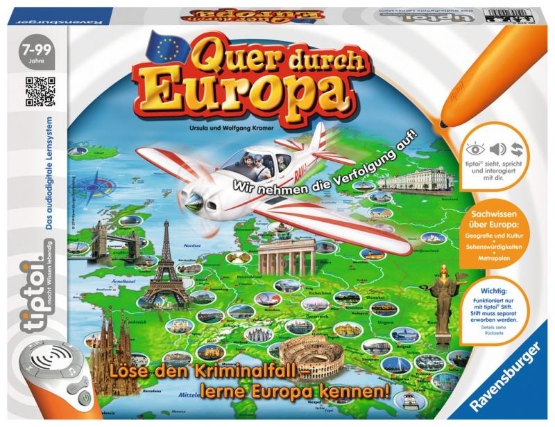 Ravensburger tiptoi® - Quer durch Europa