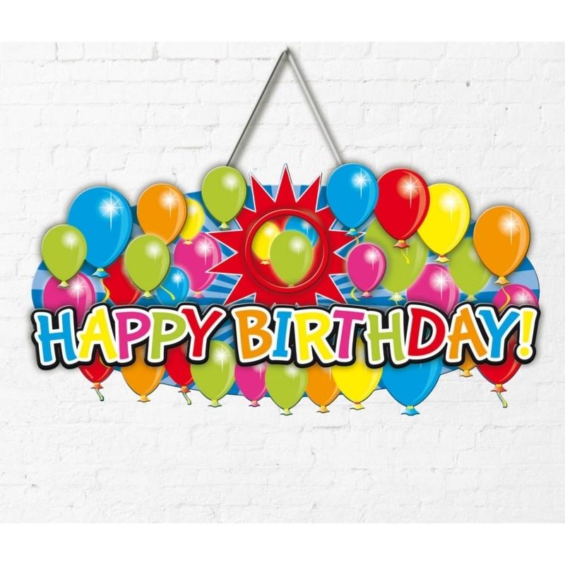 Happy Birthday Türschild 3D
