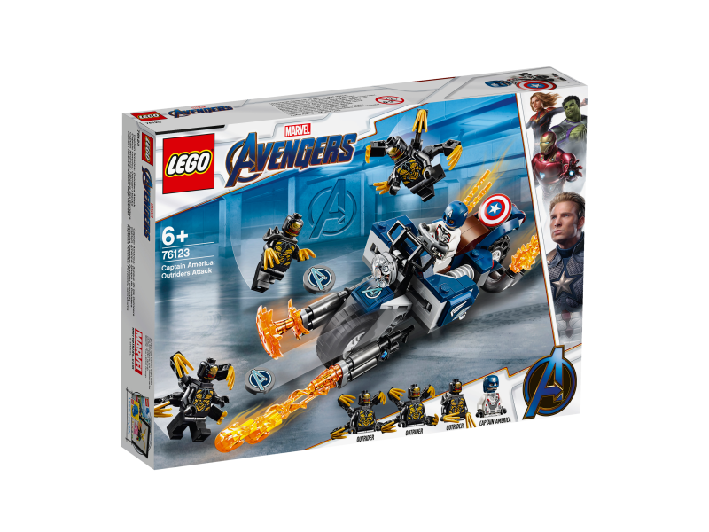 LEGO Marvel Super Heroes 76123 - Captain America's Outriders Attack Avengers