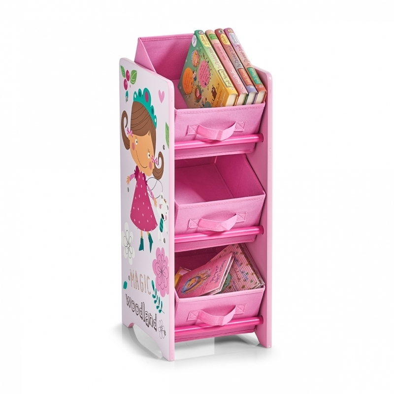 Kinder Regal mit Vliesboxen Girly