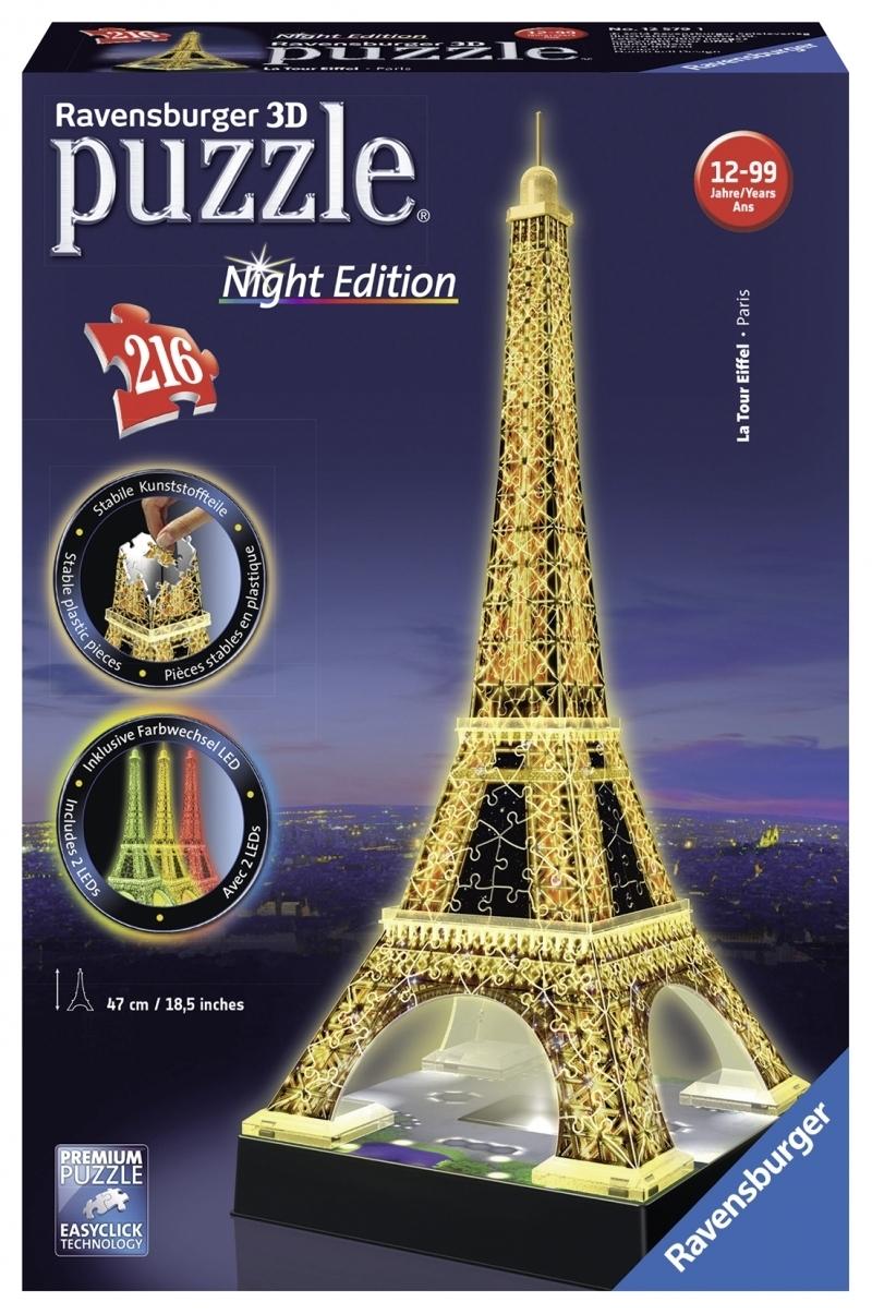 Ravensburger 3D Puzzle - Eiffelturm bei Nacht
