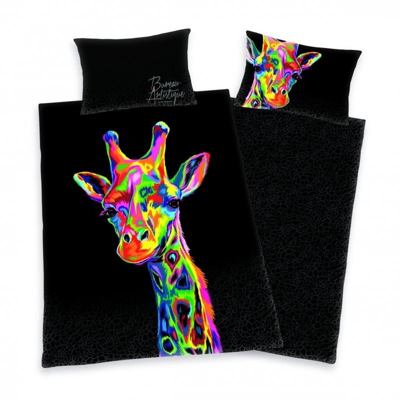 """Bureau-Artistique """"Giraffe"""" Satin-Bettwäsche"""